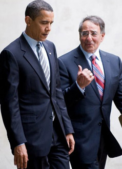 US President Barack Obama with Central Intelligence Agency Director Leon Panetta